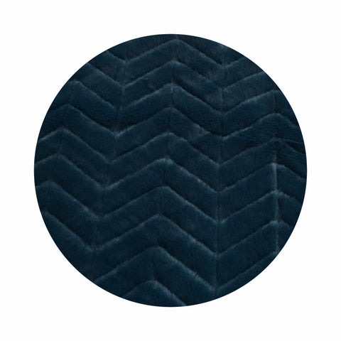 Chevron Faux Fur Throw Rugs