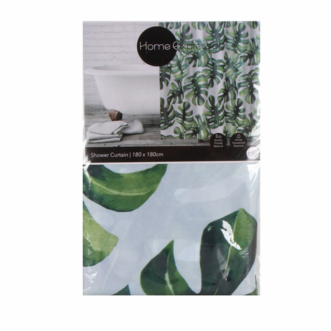 Monstera Shower Curtain - Baines Manchester