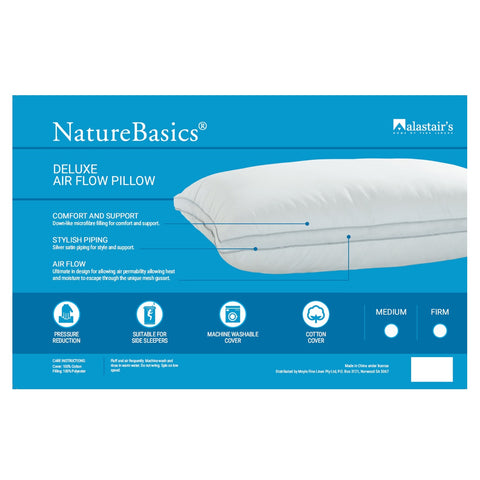 Natures Basics Deluxe Air Flow Pillow - Baines Manchester