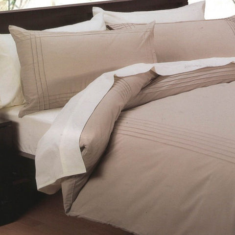 Pintuck Quilt Cover Set White ONLY