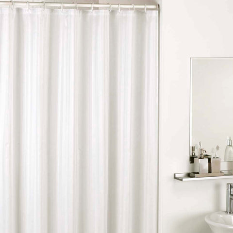 Classic Satin Stripe Shower Curtain - Baines Manchester