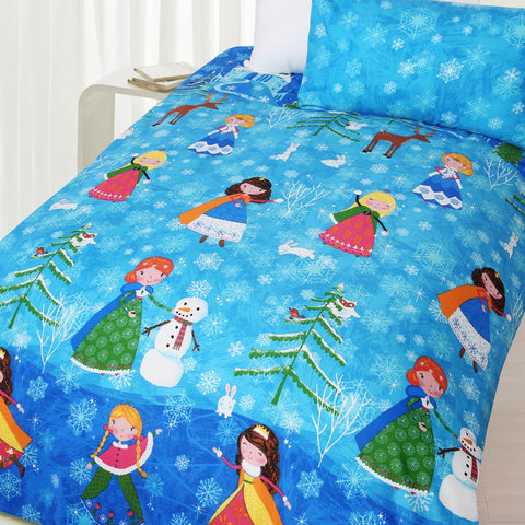 Snow Princess Quilt Cover Set - Baines Manchester