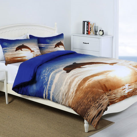 Dolphin Sunset Quilt Cover Set - Baines Manchester