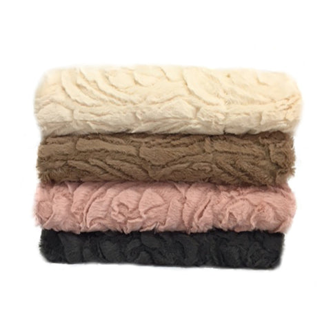 Damask Faux Fur Throw Rugs