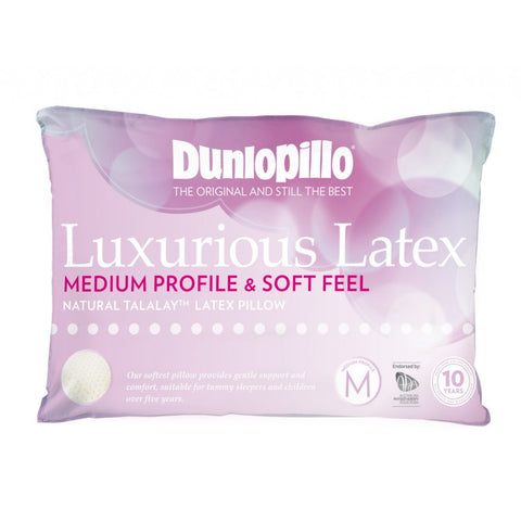 Medium Profile Soft Feel Dunlopillo Talalay™ Latex Pillow - Baines Manchester