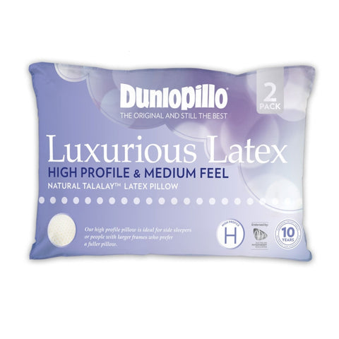 TWIN PACK High Profile Dunlopillo Talalay™ Latex Pillow