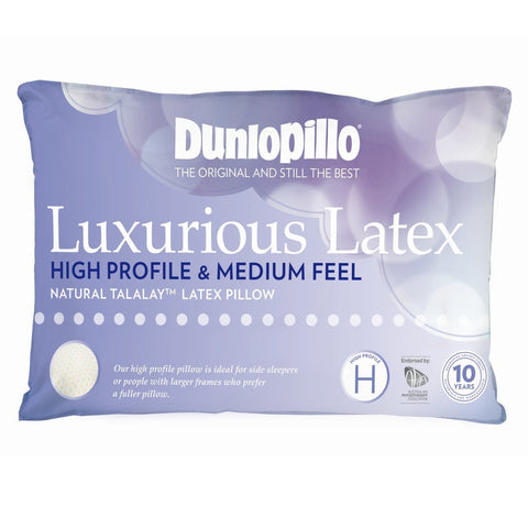 High Profile Dunlopillo Talalay™ Latex Pillow - Baines Manchester