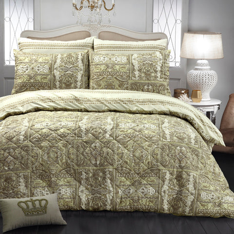 Calico Quilted Quilt Cover Set - Baines Manchester