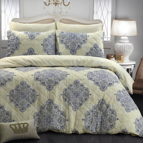 Victoria Quilted Quilt Cover Set