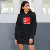 Organic Black Hoodie Dress - eat pussy not animals