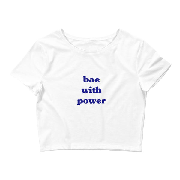 White Crop Tee - bae with power
