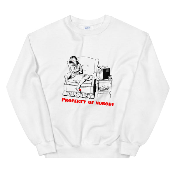 White Sweatshirt - property of nobody