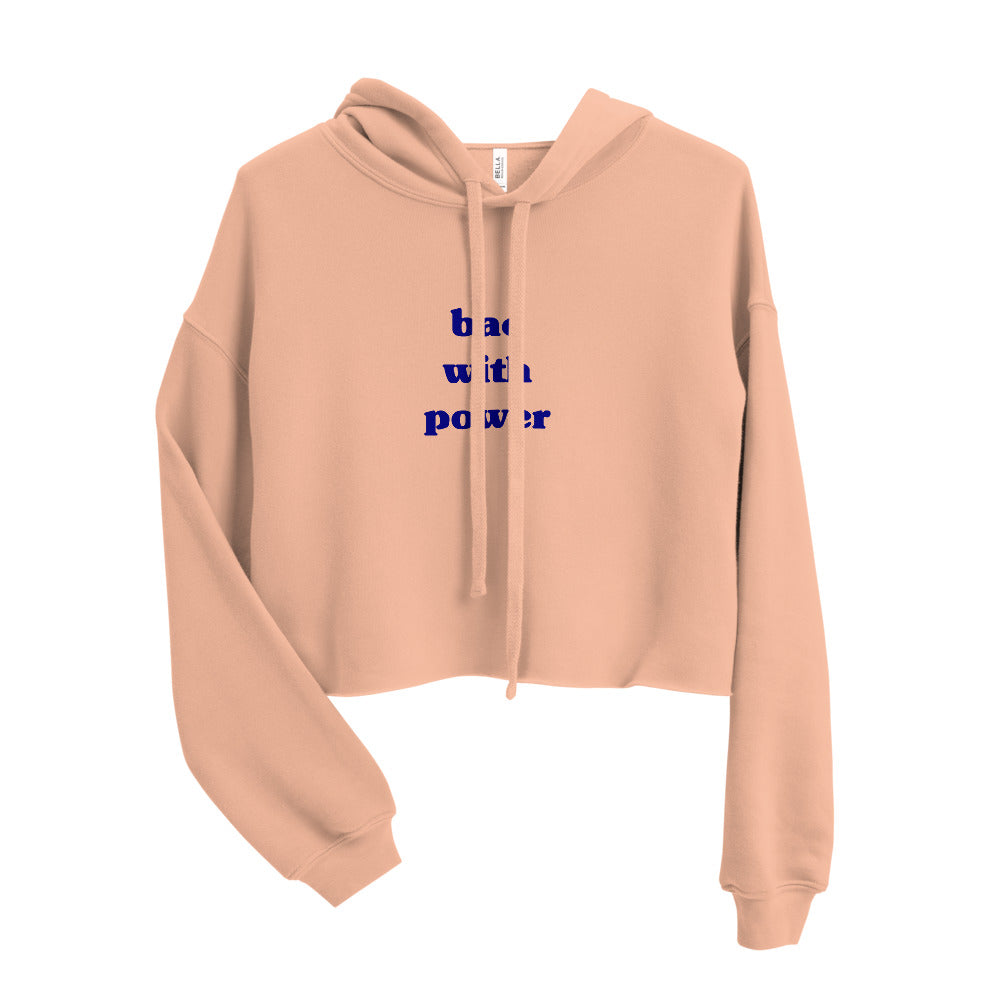 Peach Crop Hoodie - bae with power