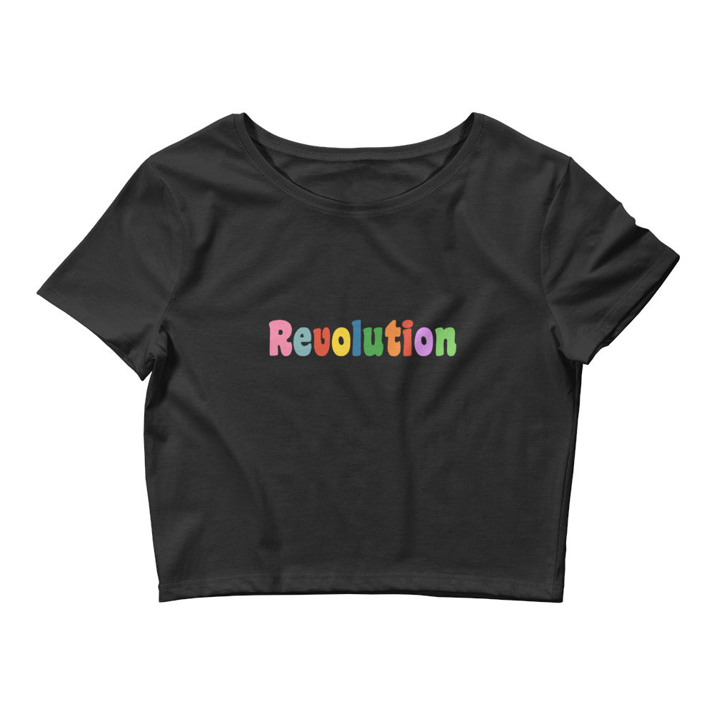 Black Crop Tee - revolution
