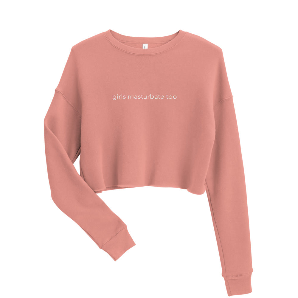 Peach Crop Sweatshirt - girls masturbate too