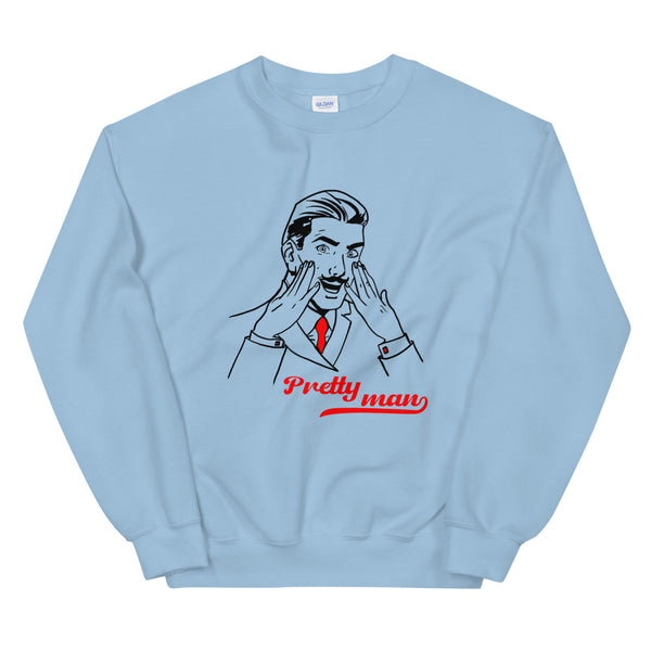 Blue Sweatshirt - pretty man