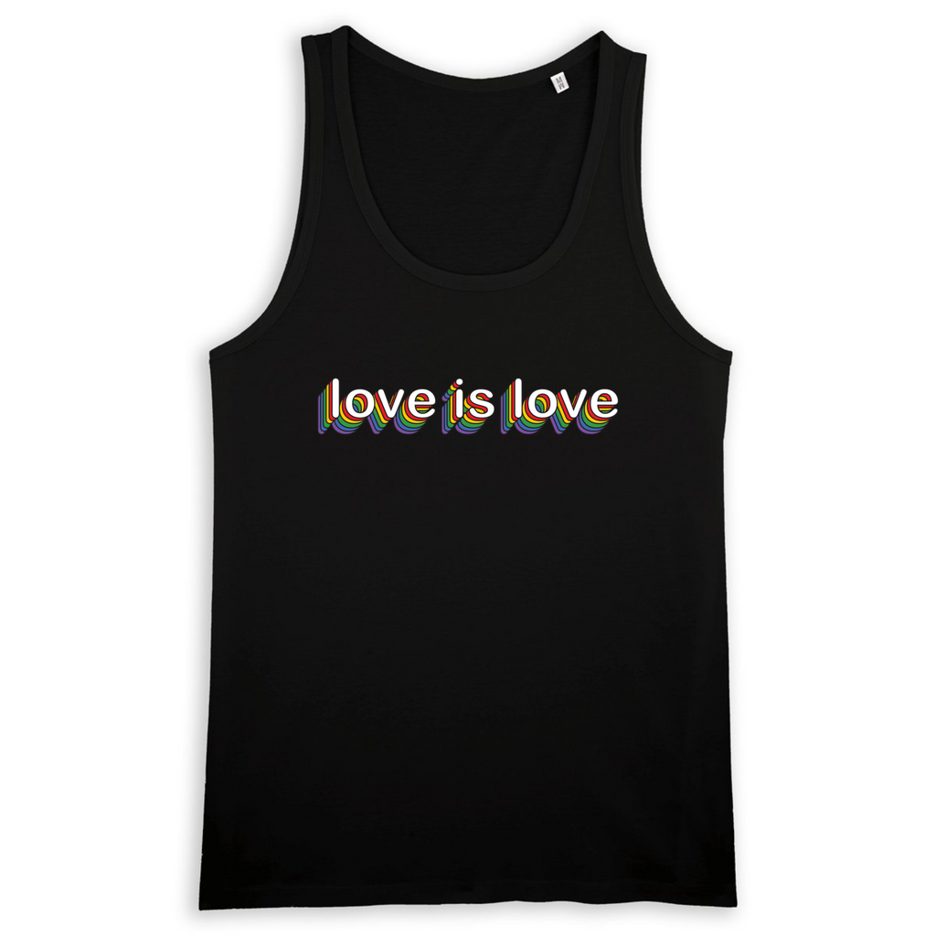 Organic Black Tank Top - love is love