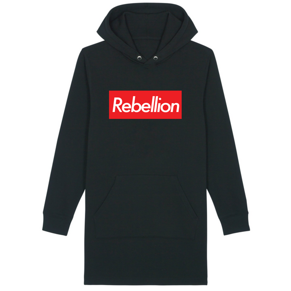 Organic Black Hoodie Dress - rebellion