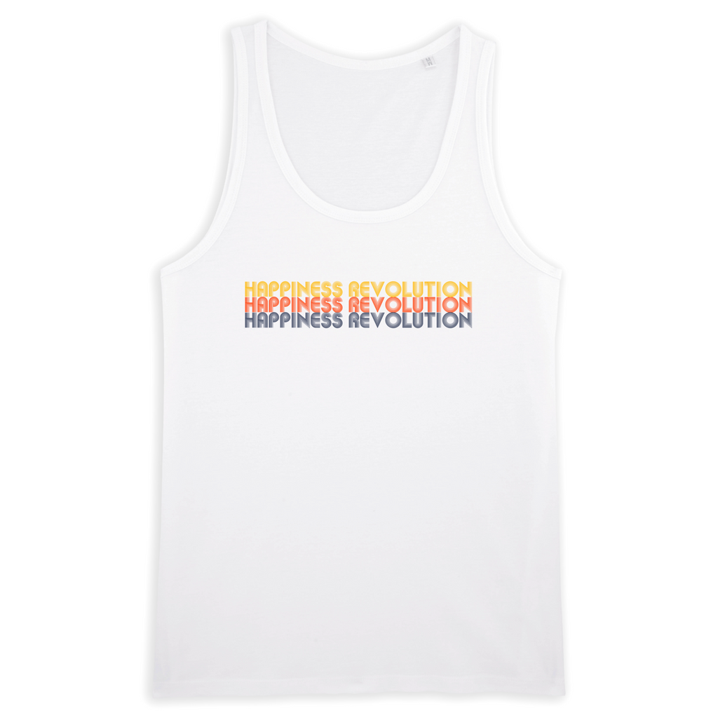 Organic White Tank Top - happiness revolution