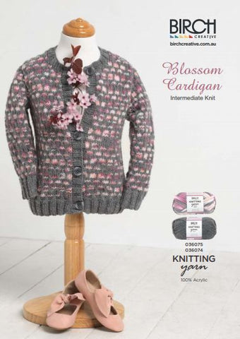 Blossom Childrens Cardigan - Free Pattern Birch JG Creations