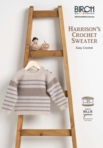 Harrisons Crochet Sweater JG Creations Birch