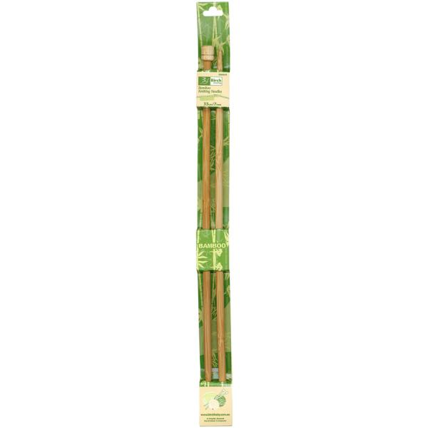 Bamboo Knitting Needles With Knob- 33cm - 7mm or 10mm