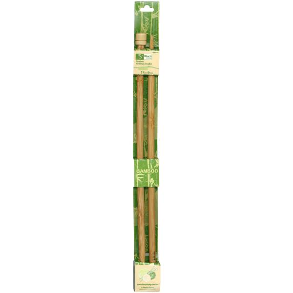 Bamboo Knitting Needles with Knob 25cm - 6mm or 6.5mm
