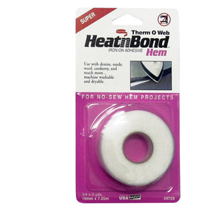 Thermoweb HeatnBond Hem - Super Hem - Iron on Adhesive - 19mm x 7.3m - buy from J G Creations (Australia)