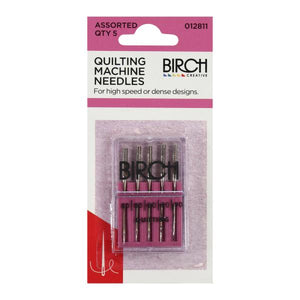 Birch Quilting Machine Needles Assorted 5 Pack