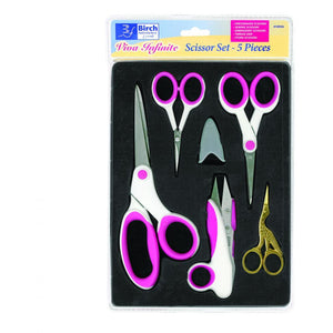 Birch Viva Infinite Scissor Set - 5 Pieces - buy from J G Creations (Australia)