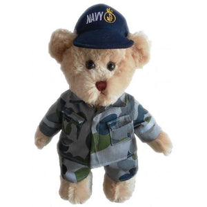 Sydney the Navy Cam Bear 30cm Height - buy from J G Creations (Australia)