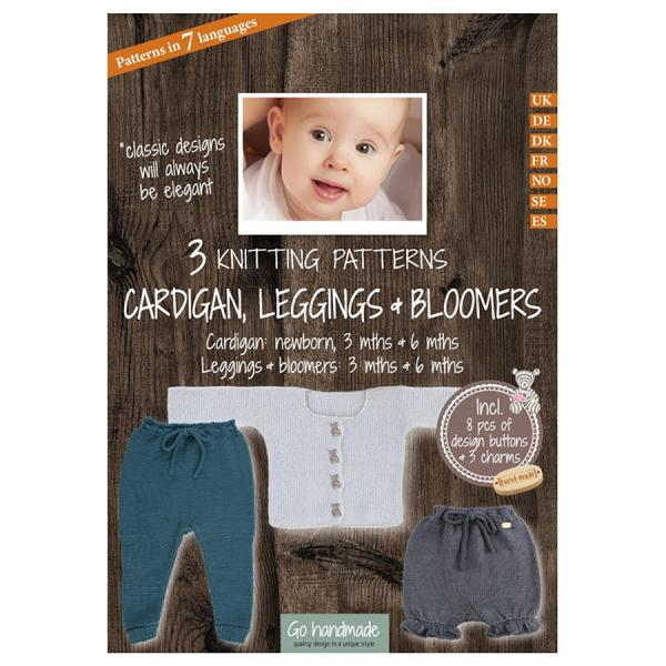 Go Handmade Knitting Patterns - Cardigan, Leggings & Bloomers - Baby 3 & 6 Months