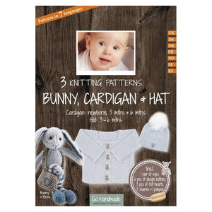 Go Handmade Knitting Patterns - Bunny, Baby Cardigan & Hat