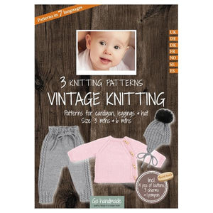 Go Handmade Knitting Patterns - Vintage Knitting Cardigan, Leggings & Hat - Baby 3 & 6 Months
