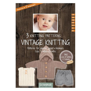 Go Handmade Knitting Patterns - Vintage Knitting Slipover, Jacket & Bloomers- Baby 3 & 6 Months