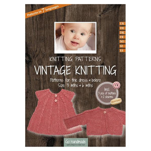 Go Handmade Knitting Patterns - Vintage Knitting Dress & Bolero - Baby 3 & 6 Months