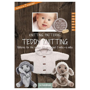 Go Handmade Knitting Patterns Teddy Knitting - Lambs & Jackets 3 & 6 Months Baby