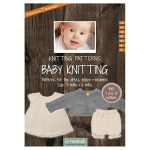 Go Handmade Knitting Patterns - Knitting Dress & Bolero & Bloomers - For Baby 3 & 6 Months