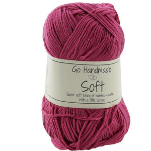 Go Handmade Soft Yarn - Super Soft blend of Bamboo & Cotton with a little acrylic 50g