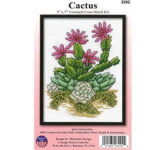 "Cross Stitch 5""x7"" - Cactus - buy from J G Creations (Australia)"