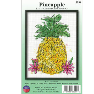 "Cross Stitch 5""x7"" - Pineapple"
