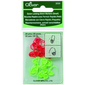 Clover Quick Locking Stitch Markers - Small 3030 - buy from J G Creations (Australia)