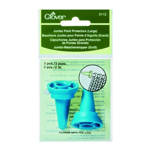 Clover Jumbo Point Protectors (Large) For Knitting - Pack of 2. 3112
