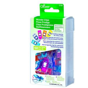 Clover Wonderclips Assorted 50 piece pack (3183)