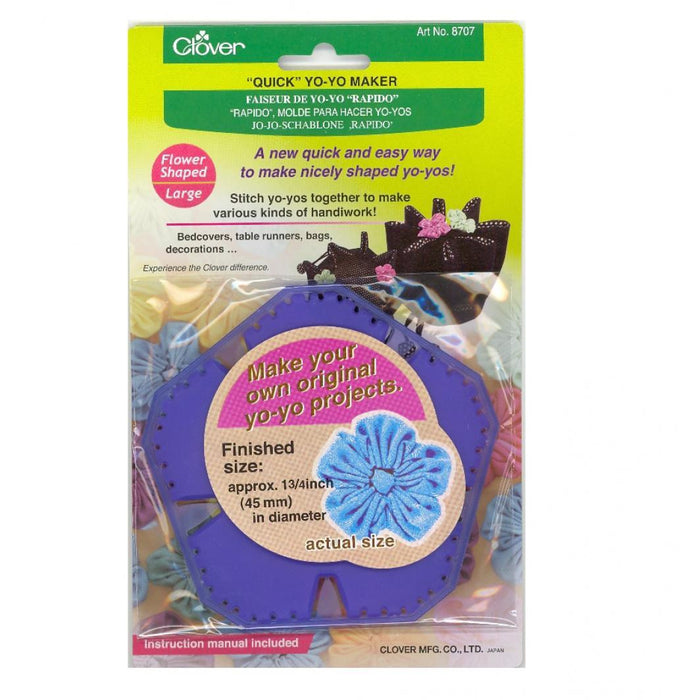 Clover Quick Yo Yo Maker Large Flower Shape (Pom Pom) 8707