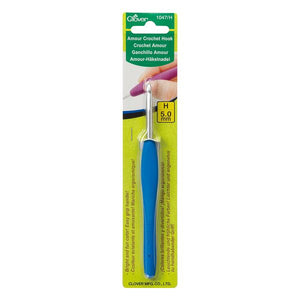 Clover Amour Crochet Hook 5.0mm (1047) - buy from J G Creations (Australia)