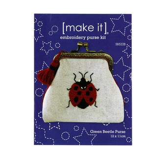 Red Ladybug Beetle Embroidery Purse Kit [make it] 585228 - buy from J G Creations (Australia)