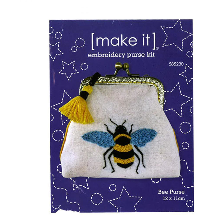 Bee Embroidery Purse Kit [make it] 585230 - Bee Purse