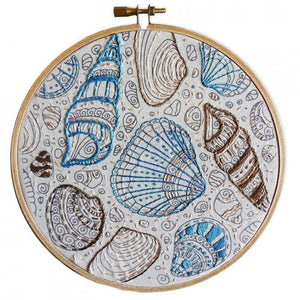 Make It Colour Me in Embroidery - Flamingo or Shell Art - buy from J G Creations (Australia)
