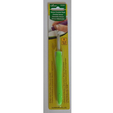 Clover Amour Crochet Hook 6.5mm (1053/K) - buy from J G Creations (Australia)